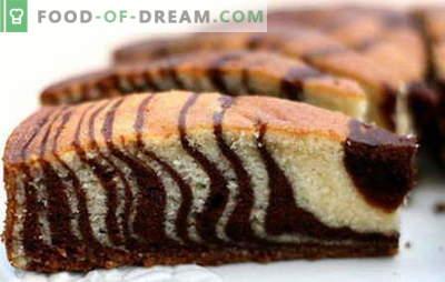 Bolo de zebra - as melhores receitas. Como corretamente e saboroso bolo zebra cozinheiro.