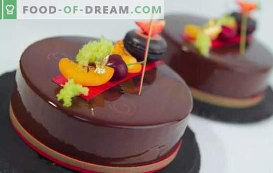 Мус тортата с огледална глазура е блестящ десерт! Готвене на вкусни мус торти с огледална глазура