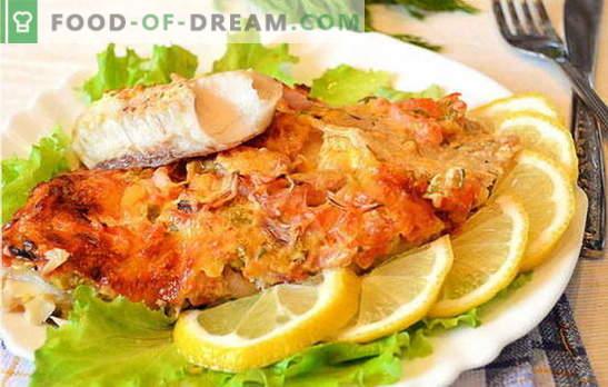 Como cozinhar filetes de peixe no forno é saboroso e fácil? Uma seleção de receitas de filé de peixe no forno: com batatas, em folha, originalmente