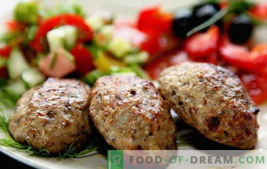 Rissóis caseiros de carne - produtos semi-acabados! Cozinhar rissóis de carne picada suculenta e perfumada: as melhores receitas