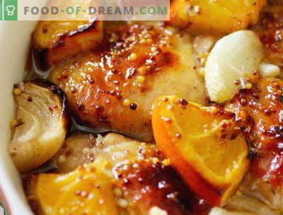 Frango com laranjas - as melhores receitas. Como cozinhar corretamente e saboroso frango com laranjas