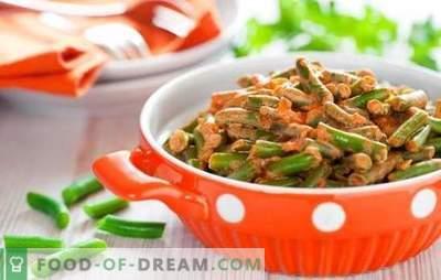 Como cozinhar feijão verde saborosa e rapidamente: uma salada, acompanhamento com legumes, ovos, cogumelos. Cozinhar feijão verde saboroso - receitas