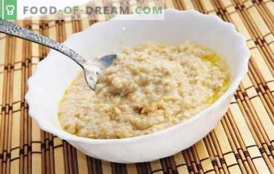Como cozinhar flocos de aveia para torná-lo saboroso? Cozinhe mingau na água, com leite, passas, abóbora, maçãs