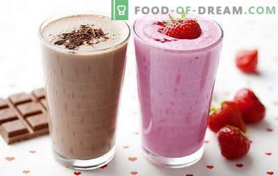Receita de batido de leite em casa: com frutas, frutas, chocolate e nozes. Os melhores batidos estão aqui!