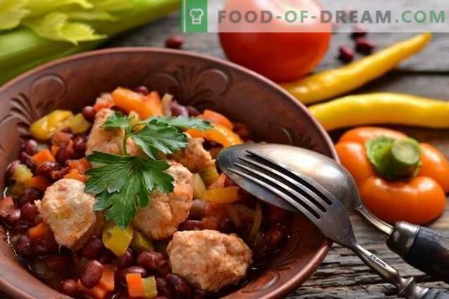 Ensopado de legumes com almôndegas de frango