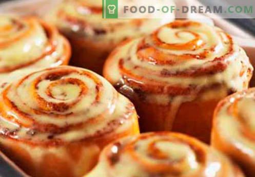 Os pãezinhos de canela são as melhores receitas. Como corretamente e saboroso cozinhar pãezinhos Cinnabon em casa