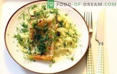 Pescado en salsa de crema: un sabor especial de los platos de pescado. Recetas de pescado al horno guisadas en una sartén con salsa de crema