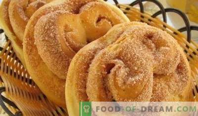 Buns with sugar - the best recipes. How to properly and tasty cook buns with sugar at home