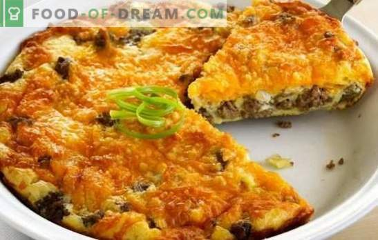 Stuffed pie with minced meat - baking without tension! Recipes for quick, nourishing, tasty fill pies with minced meat and other fillings