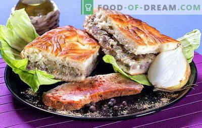 Pastel con repollo y carne: ideas de relleno para pasteles sabrosos. Tipos de masa para pastel con repollo y carne: las mejores recetas