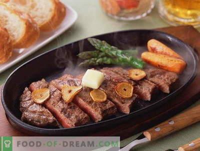 Carne frita - as melhores receitas. Como corretamente e saboroso cozinhar carne assada.