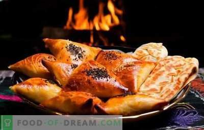 Samsa - receitas passo-a-passo para deliciosos triângulos de carne. Preparando samsa tradicional e puff em casa com receitas passo-a-passo