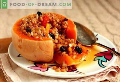 Abóbora recheada - as melhores receitas. Como cozinhar corretamente e saboroso abóbora recheada.