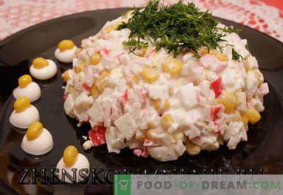 Salada de caranguejo - Receita com fotos e descrição passo a passo