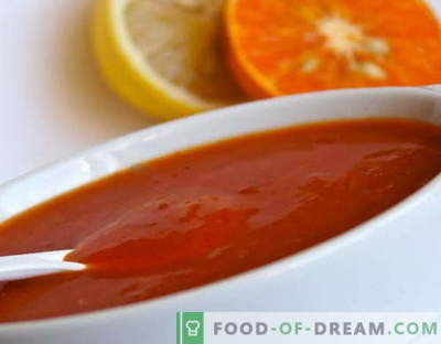 Molho agridoce - as melhores receitas. Como corretamente e saboroso cozinhar molho agridoce.