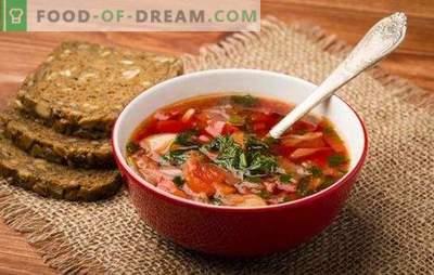 Sopa russa: segredos da fama mundial. Receitas da antiga e nova sopa russa: azeda, fresca, verde, com kvass, com espargos