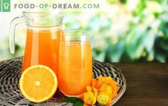 Buvez des oranges à la maison - étanchez votre soif avec fraîcheur et bienfaits. Quelles boissons à base d'oranges peuvent être préparées à la maison?