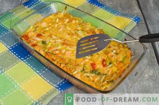 Courgette ovenschotel met kip - zonder bloem en extra calorieën