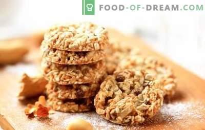 Como fazer bolachas de aveia saborosas sem manteiga. Receitas e dicas para assar biscoitos de aveia sem manteiga