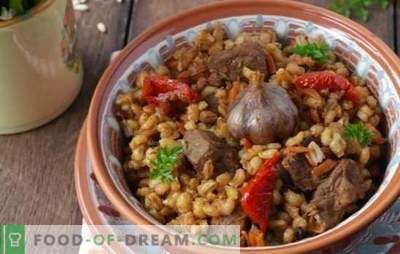 Crumbly pearl barley with meat in a slow cooker will always turn out! A hearty meal made from simple products - barley recipes with meat in a slow cooker