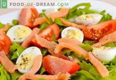 Salat mit Lachs und Eiern für den Urlaub und für jeden Tag