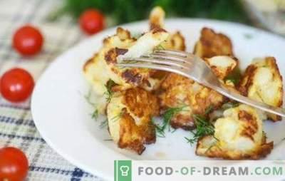 Blumenkohl mit einem Ei in einer Pfanne - Sie müssen es probieren! Rezepte und Blumenkohl kochen mit einem Ei in einer Pfanne