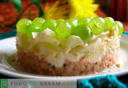 Insalata con uva - ricette collaudate. Come cucinare un'insalata con l'uva.