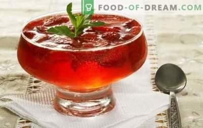 Sobremesa fácil e saborosa - geléia de geléia. Receitas simples e originais geléia de geléia com gelatina e ágar-ágar