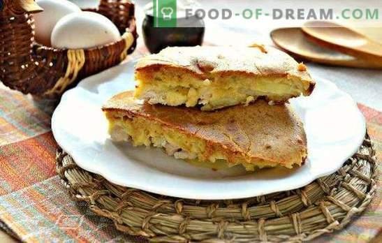 Torta de frango - suculenta, perfumada e tenra pastelaria. As melhores receitas de torta de gelatina com frango