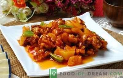 A carne em molho agridoce em chinês é uma lenda! Receitas de carne em molho agridoce chinês com abacaxis, legumes, teriyaki