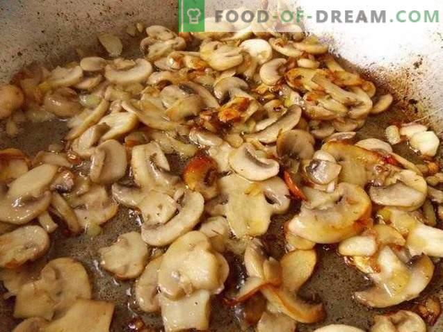 Batata zrazy com cogumelos