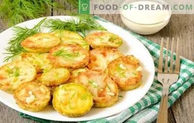 Snacks de abobrinha com alho - brilhante e apetitoso. Variedades de aperitivos de abobrinha com alho: pãezinhos, bolos, caviar, saladas