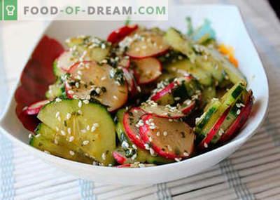 Saladas japonesas - as melhores receitas. Como corretamente e saboroso cozinhar salada japonesa.