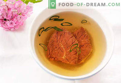 Caldo de carne - as melhores receitas. Como cozinhar e caldo de carne.