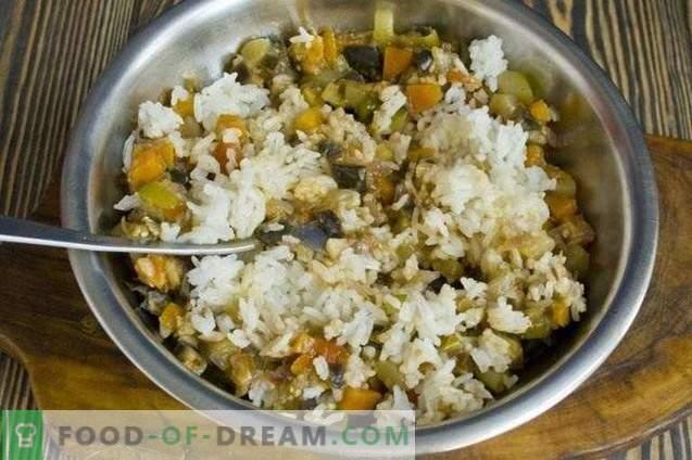 Salada de legumes com arroz para o inverno