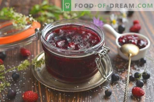 Ribes nero e marmellata di fragole