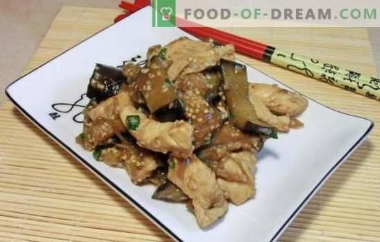 Bakłażan z chińskim mięsem - śladami tajemniczego Wschodu. Chińskie przepisy na bakłażan z różnymi sosami