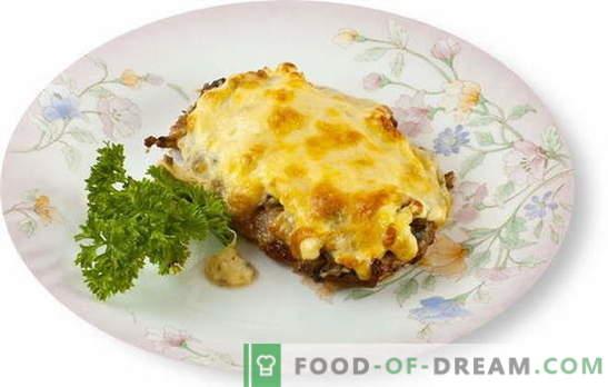 A carne com cogumelos e queijo no forno é um ótimo complemento para o acompanhamento. As melhores receitas para cozinhar carne com cogumelos e queijo no forno