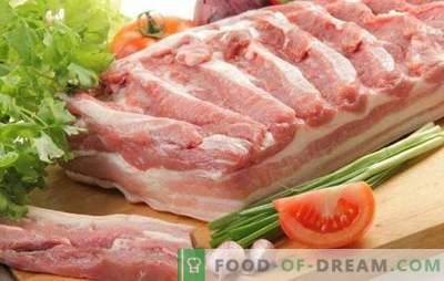 Barriga de porco - gorda e prejudicial? Não, suculento e delicioso! As melhores receitas tradicionais e do autor de barriga de porco