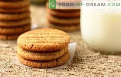 Receitas de biscoitos de leite para chá caseiro. Mel, chocolate, nozes e muitas outras receitas de biscoitos no leite
