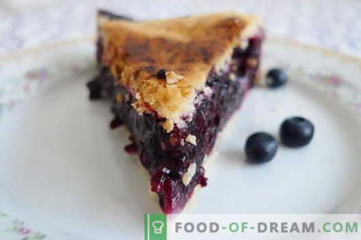 Torta de mirtilo - as melhores receitas. Como corretamente e saborosa torta de mirtilo cozinhar.