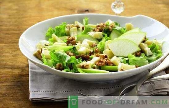 Salada com maçã e queijo - com amor da França! Receitas para saladas com maçãs e queijo, cenoura, frango, caranguejo