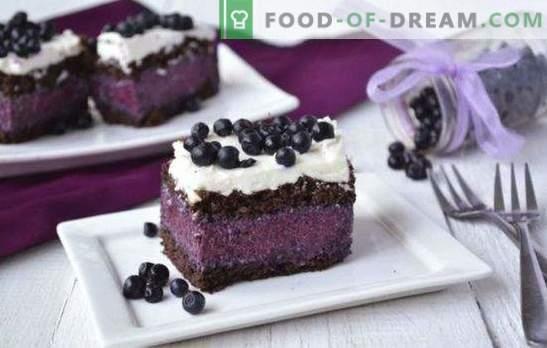 Bolo com blueberries é fantástico! Receitas para bolos diferentes com blueberries: com e sem doces, geleia, queijo cottage, chocolate