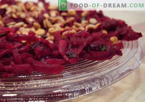 Salada de beterraba fresca - as melhores receitas. Como corretamente e saboroso cozinhar salada de beterraba fresca