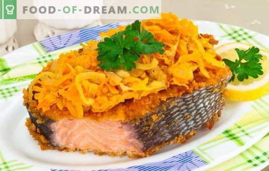 Clássicos de peixe: salmão rosa com cenoura. Para todos os amantes de peixe vermelho - as melhores receitas de salmão rosa com cenouras