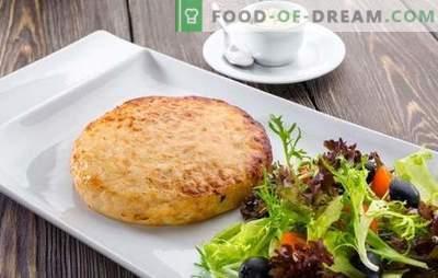 Costeletas de poleiro - um ótimo prato para almoço e jantar. Prepare hambúrgueres a partir de perca: com semolina, cogumelos, camarões