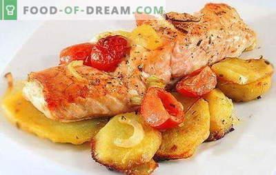 Peixe vermelho com batatas - uma combinação de nobreza e simplicidade. Receitas de peixe vermelho com batatas: em papel alumínio, forno, em uma panela