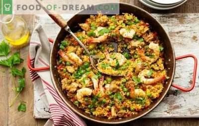 Klasikinė Paella - saulėta Ispanija jūsų namuose! Klasikinio paella receptai su mėsa ir be jos su jūros gėrybėmis, šonine