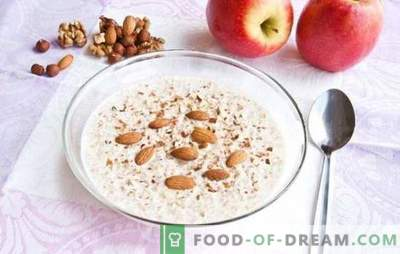 Mingau de trigo mourisco líquido - use em cada colher. Uma seleção das melhores receitas de mingau de trigo mourisco líquido com bananas, frutas secas, maçãs