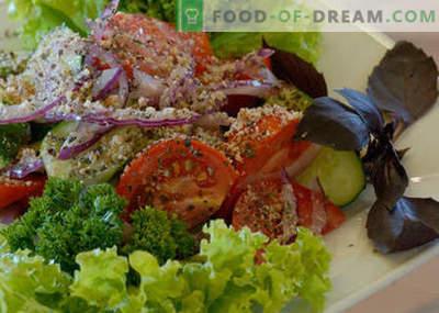 Salada georgiana - as melhores receitas. Como corretamente e saborosa salada georgiana cozido.